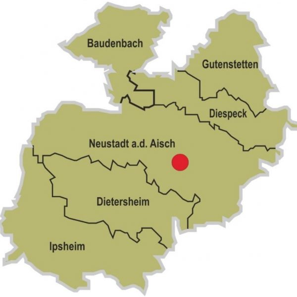Gebiet der Kommunalen Allianz NeuStadt und Land